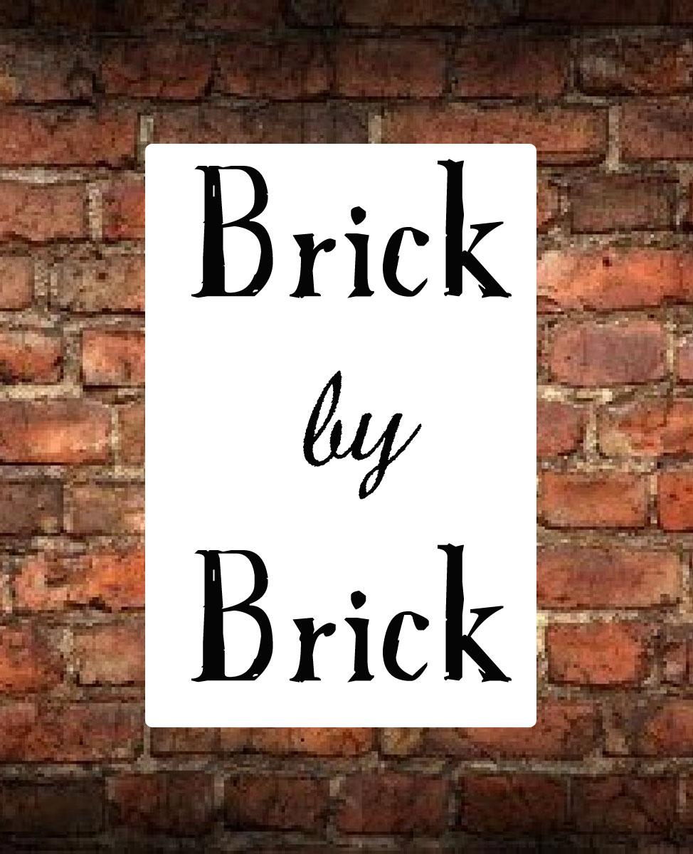 f08b354fd5b Success comes from working brick by brick - thewhitebuffalostylingco.com