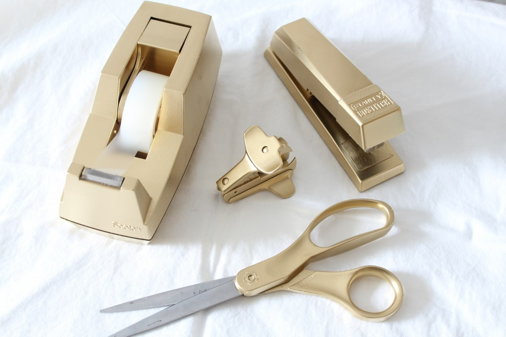 DIY Gold Desk Accessories