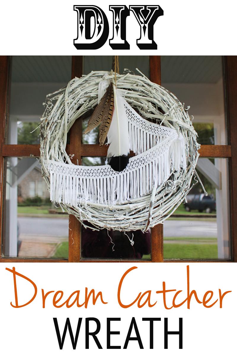 DIY Dream Catcher Inspired Wreath
