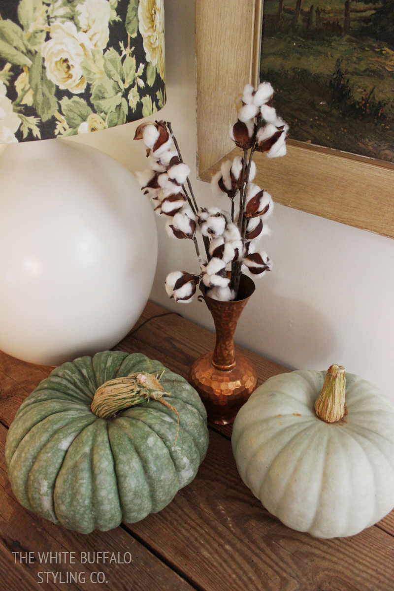 pumpkins and cotton
