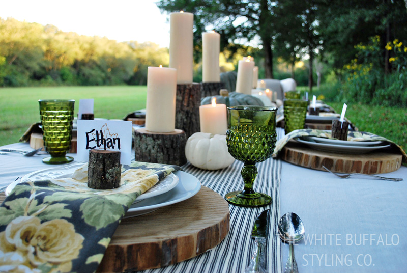 Gold Leaf Stamped Fall Placecards