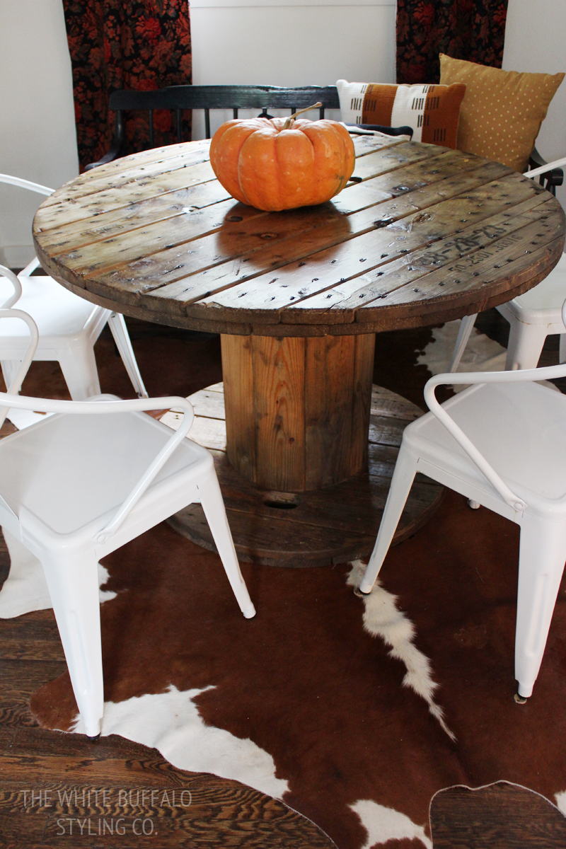 Wire Spool Dining Table