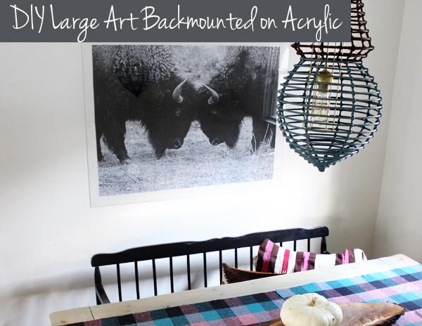 Art Backmounted onto Acrylic