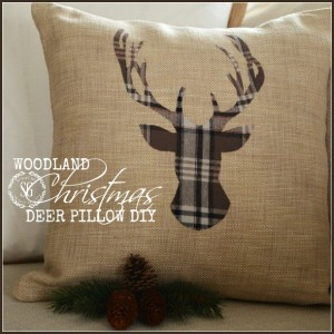 WOODLAND CHRISTMAS DEER PILLOW DIY-button-stonegableblog (1)