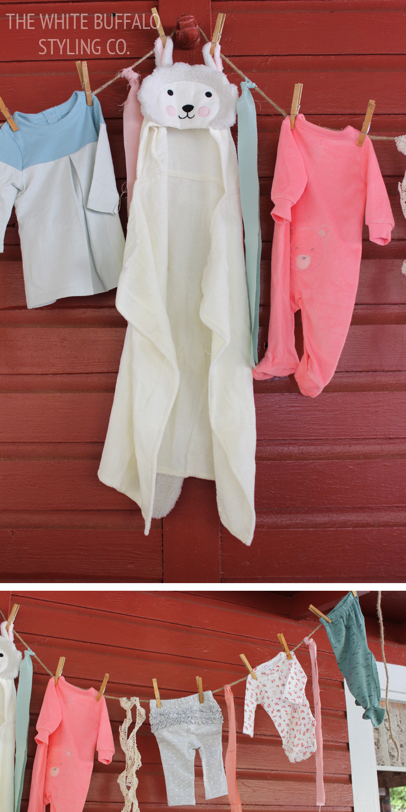 Baby Girl Shower Clothes Banner