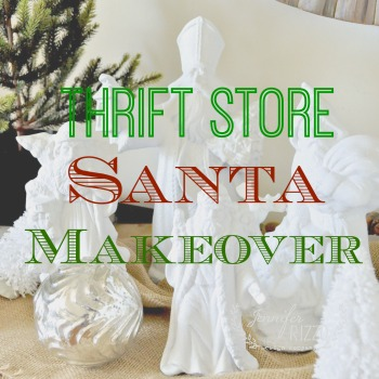 Updated thrift store santa makeover