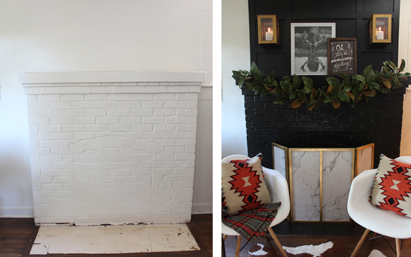 Dramatic Fireplace Before & After