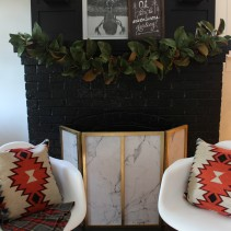 Rustic Luxe Christmas Fireplace