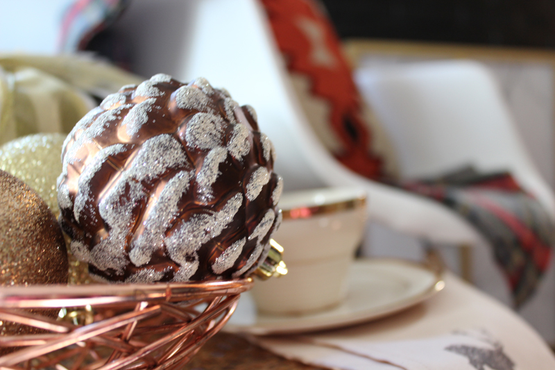 Christmas Decorating Ideas: group ornaments in a bowl for instant Christmas cheer and glitz