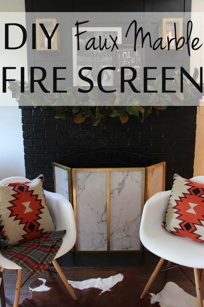 DIY Faux Marble Fire Screen Tutorial