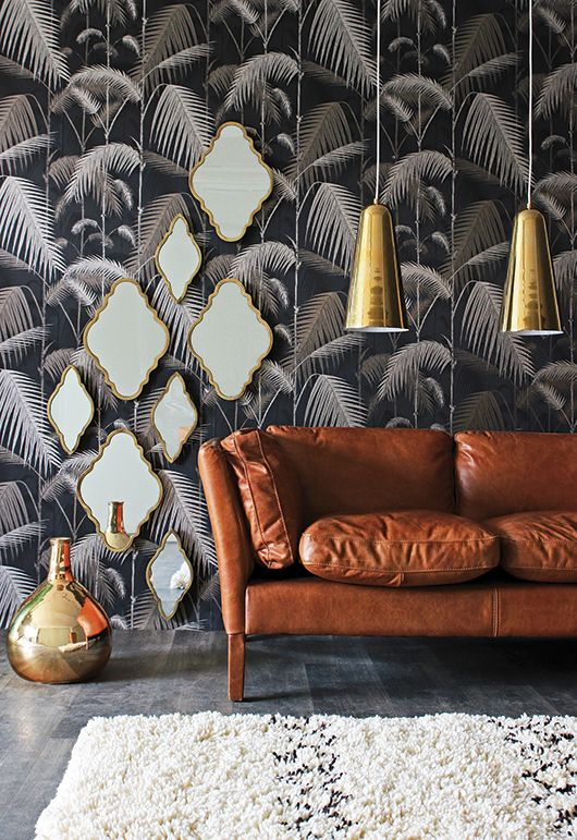 Dramatic Botanical Wallpaper Moody Dramaticwalls