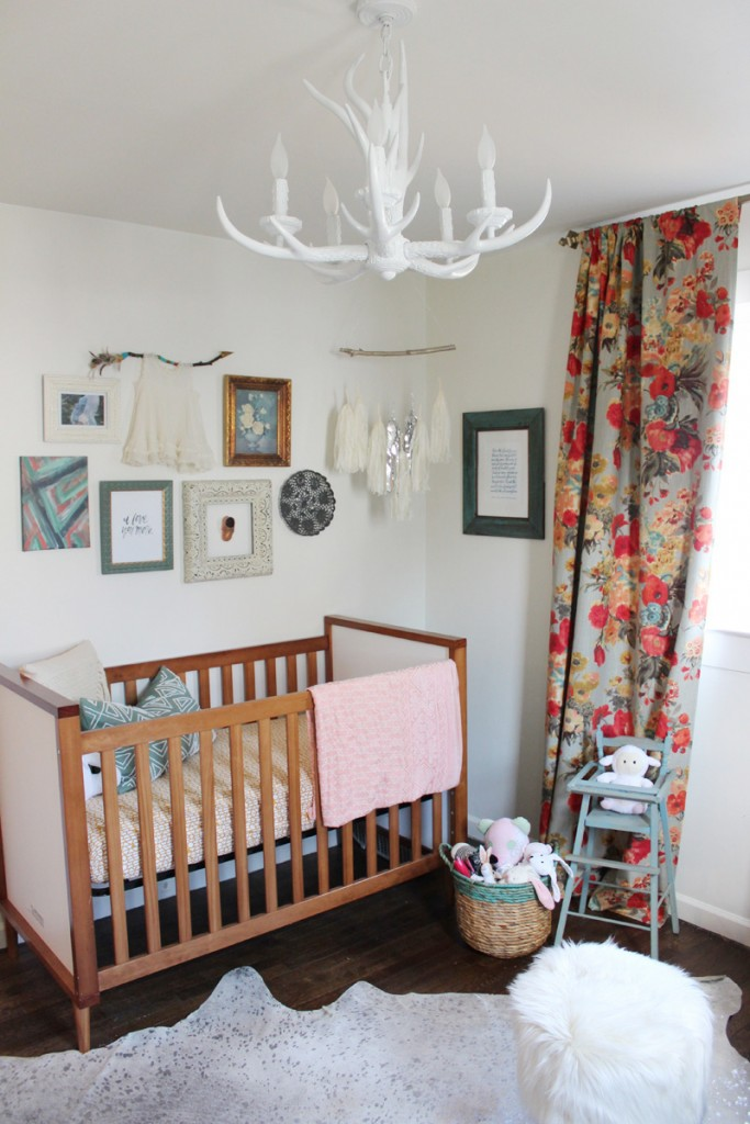 Boho Amp Floral Inspired Little Girl S Nursery