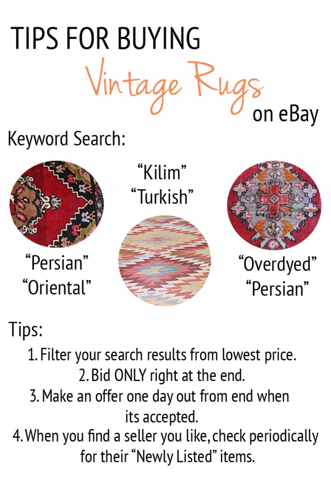 How to buy vintage rugs on eBay