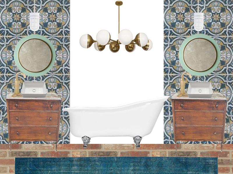 Master bathroom design plan for Bathroom design board