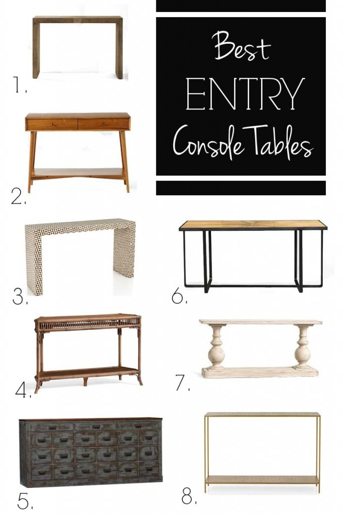 console table options