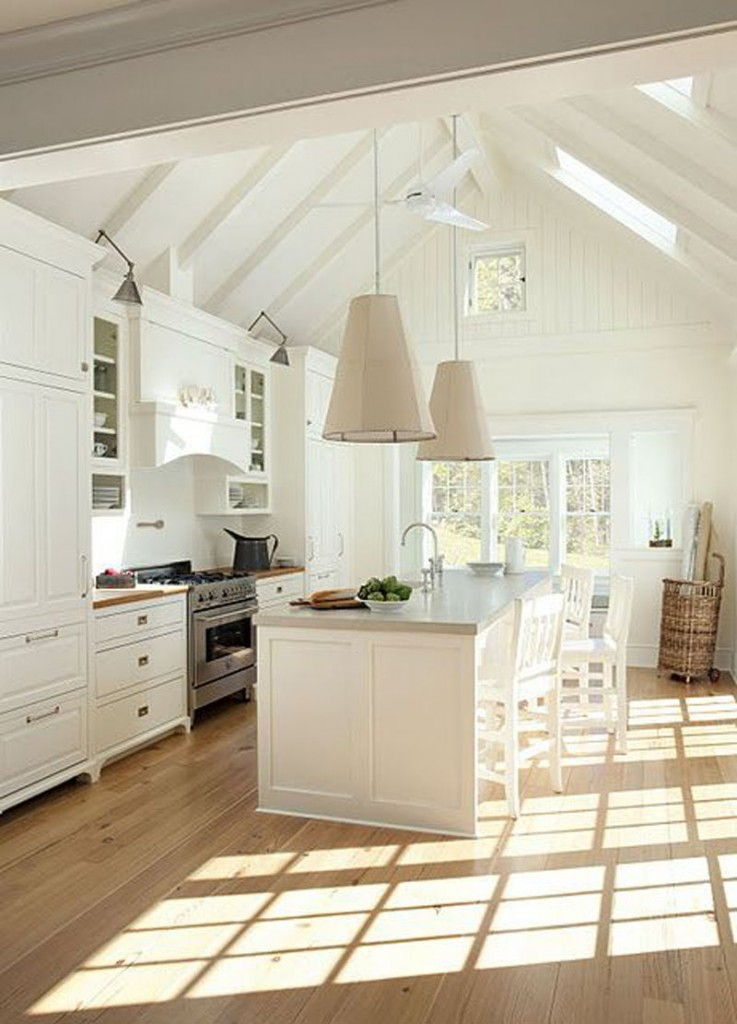 kitchen design with vaulted ceiling vaulted ceilings white or wood 993
