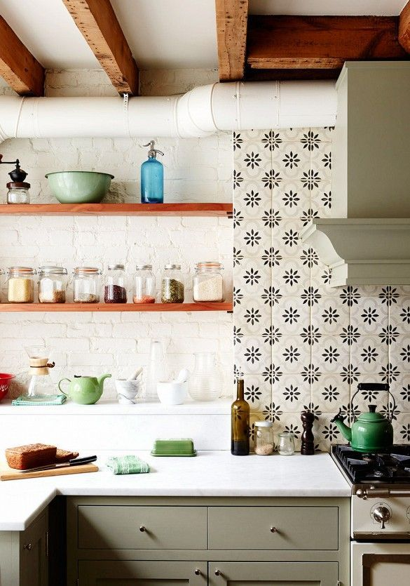 cement tiles in kitchen