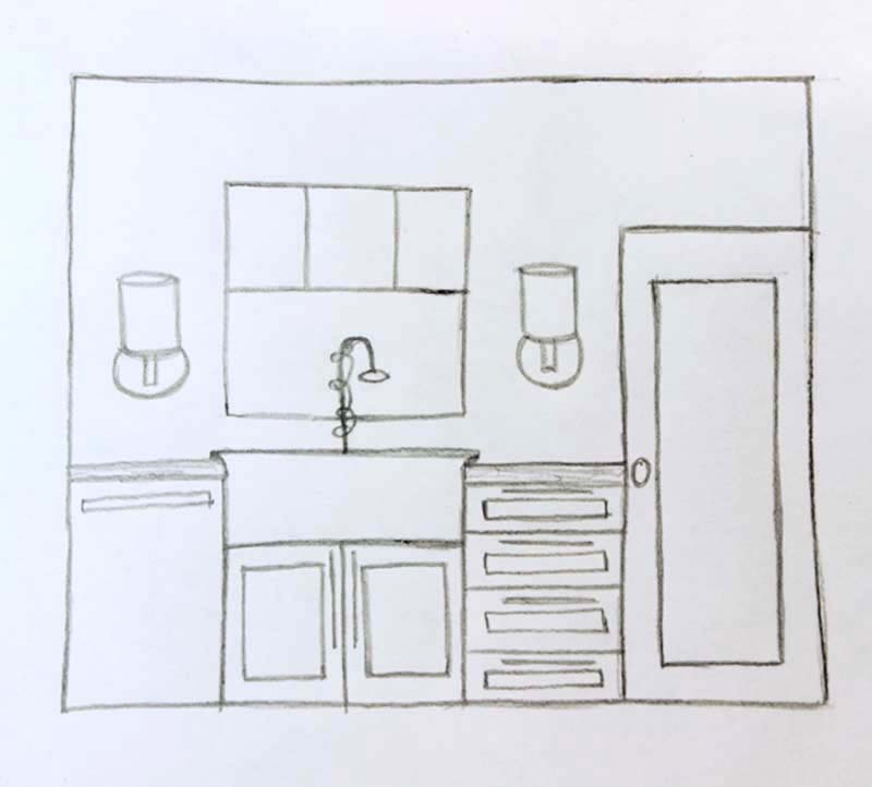 Kitchen elevation 1