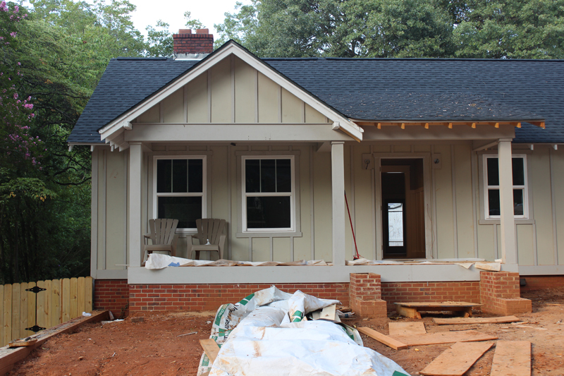 Board and batten exterior progress for Cost to paint exterior wood siding