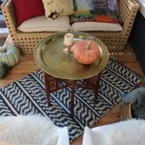 fall-styled front porch