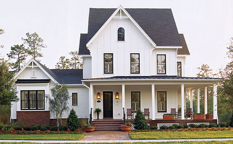 Exterior design inspiration for Southern home plans designs