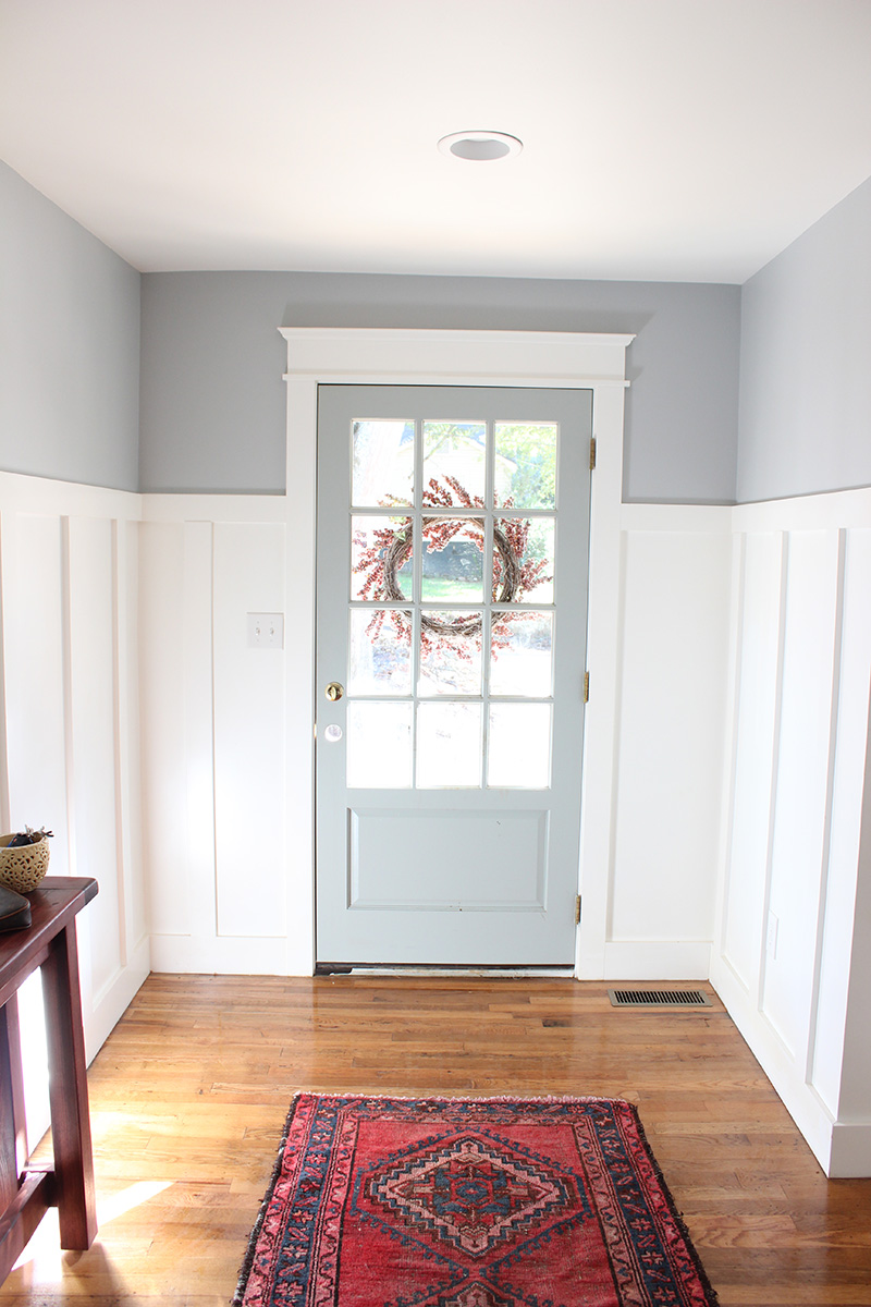Front Foyer Colours : From blue to gray entryway thewhitebuffalostylingco