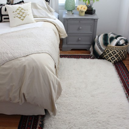 Layered boho guest room