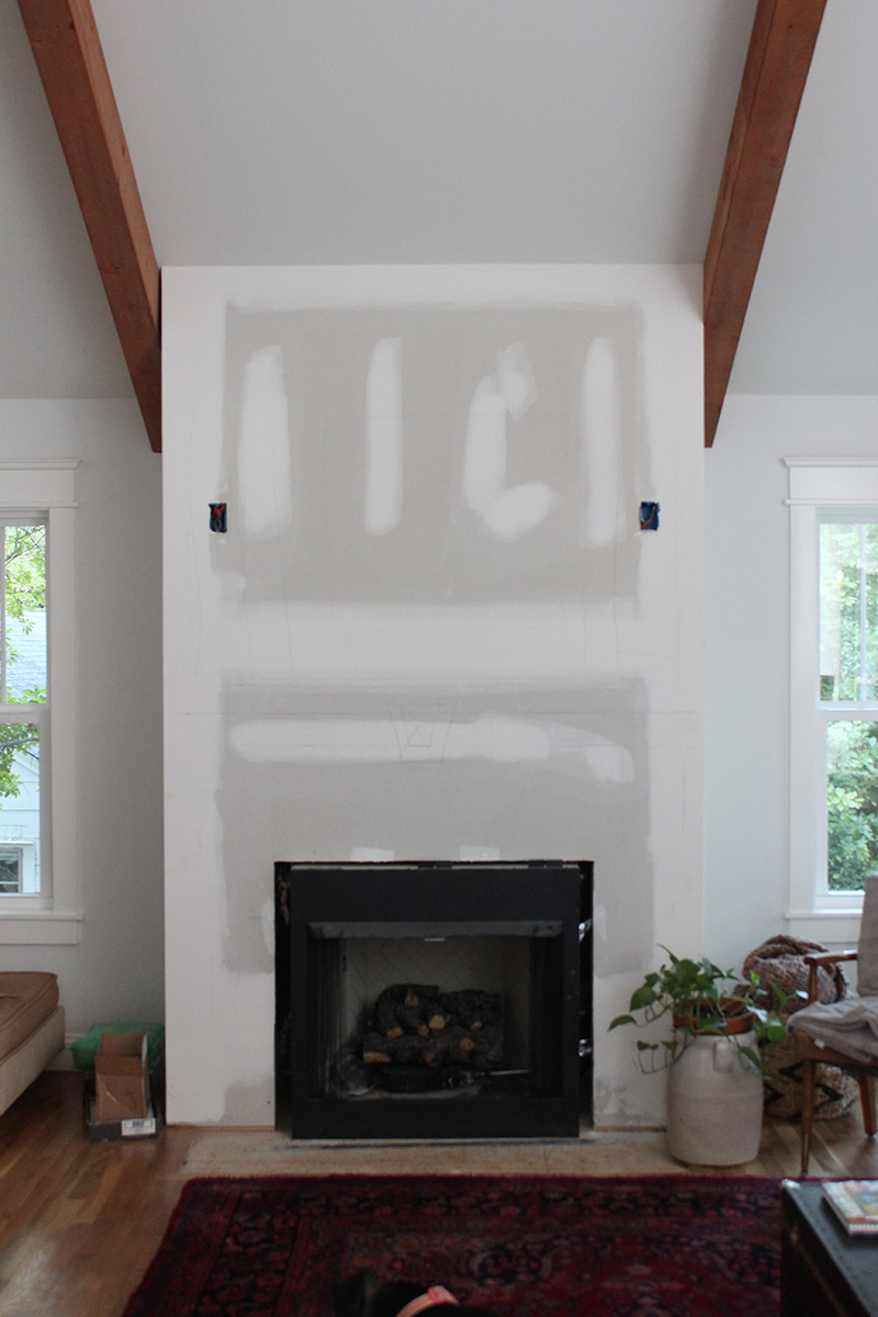 Diy faux fireplace surround - How to put out a fireplace ...