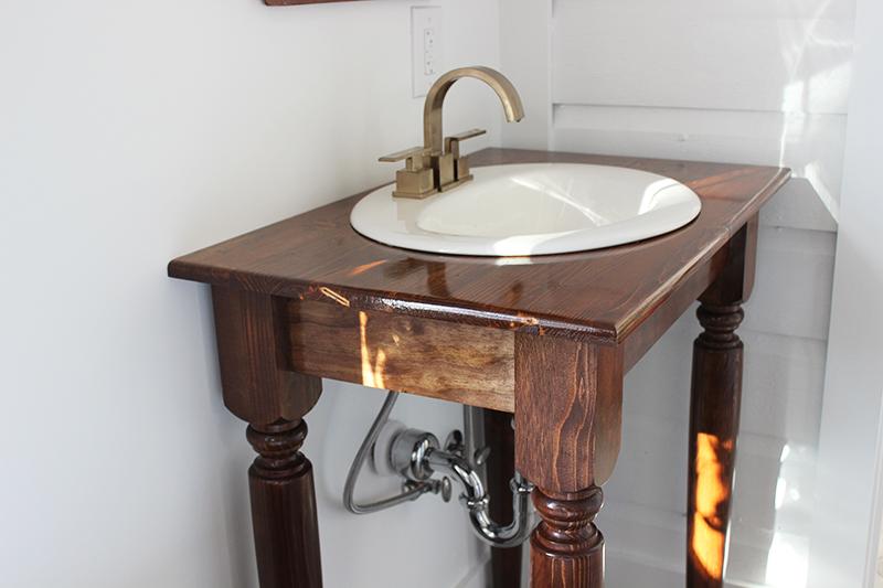 Farmhouse Table Bathroom Vanity
