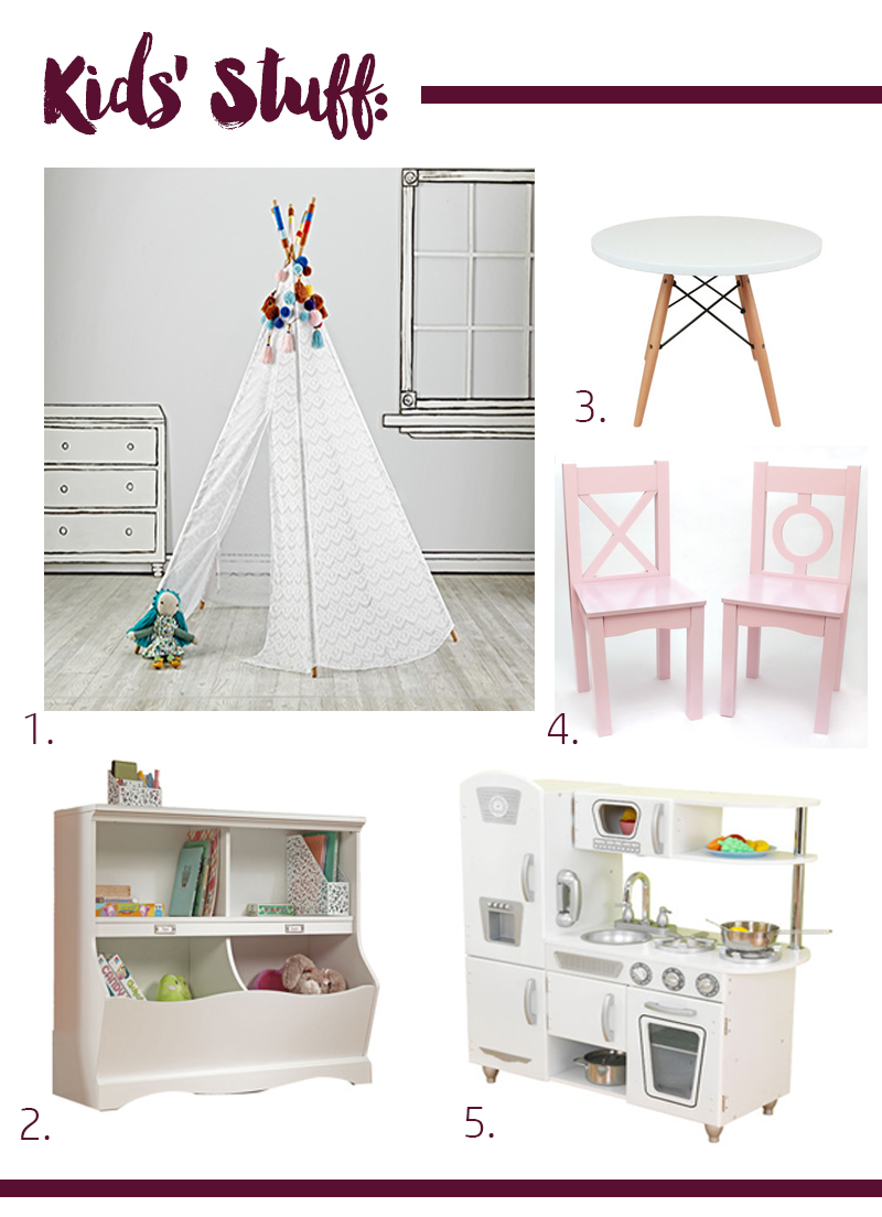 A Stylish & Fun Office/Playroom - thewhitebuffalostylingco.com
