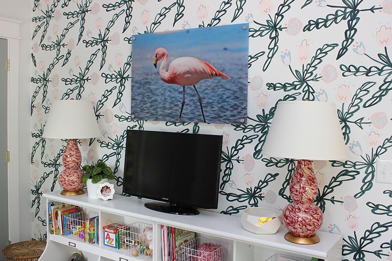 diy-painted-floral-wallpaper