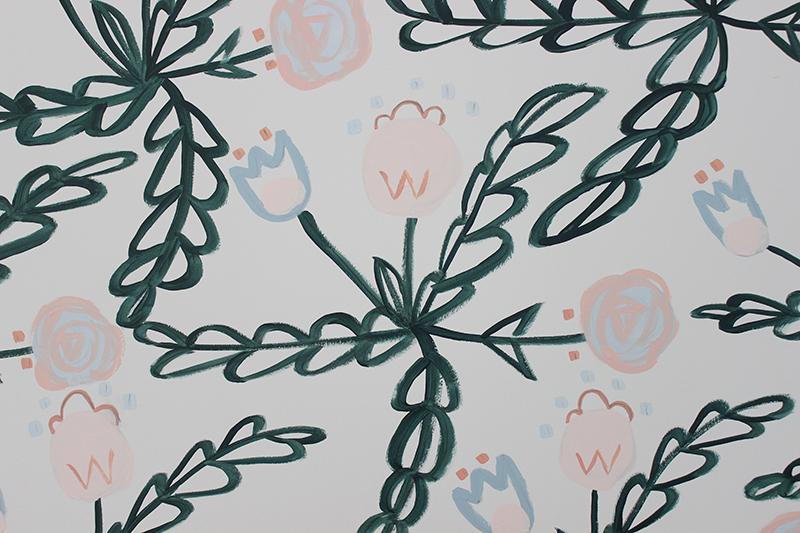 diy-painted-wallpaper