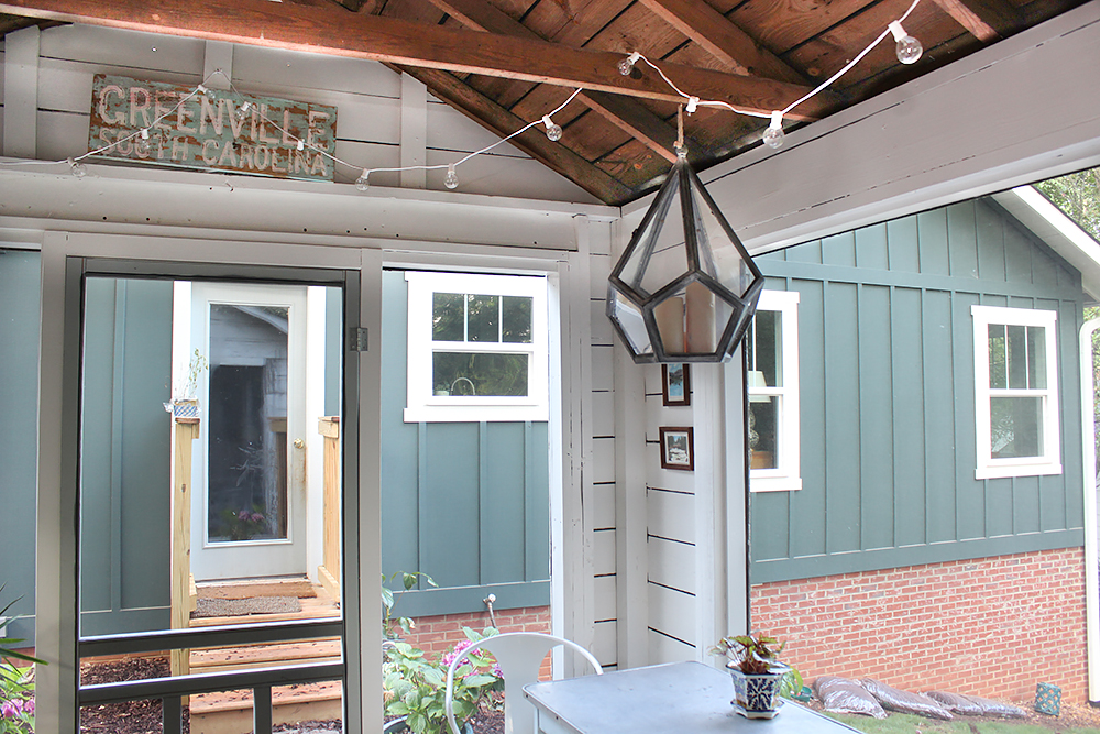 Modern Farmhouse Style in the Screened Porch & a Giveaway ... on Farmhouse Outdoor Living Space id=98885