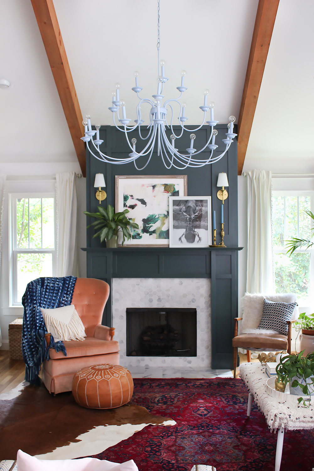 dark-green-mantel