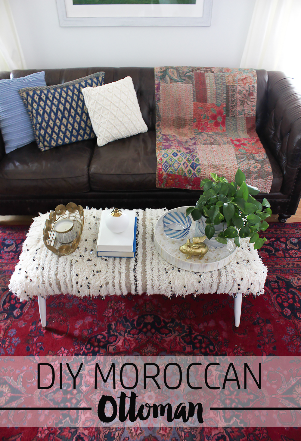 Diy Moroccan Wedding Blanket Ottoman