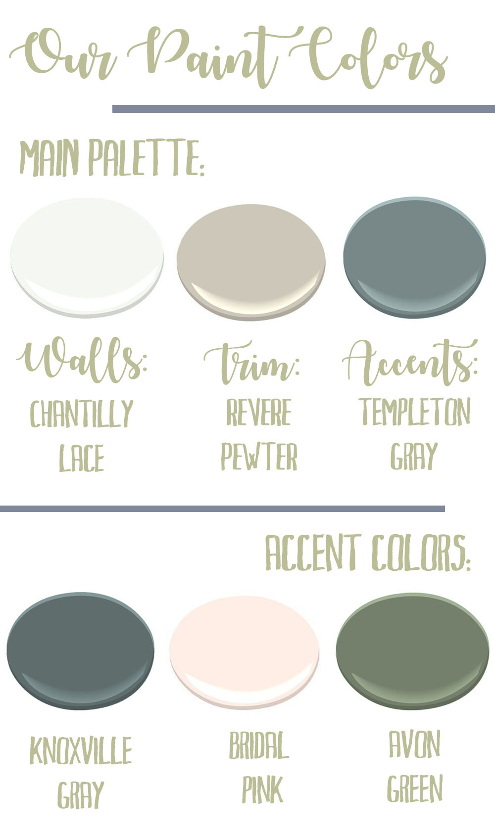 All Of These Are Benjamin Moore Colors And I Have To Give A Huge Shout Out My Sweet Friend Eileen From Creative Day She S One Dearest Friends