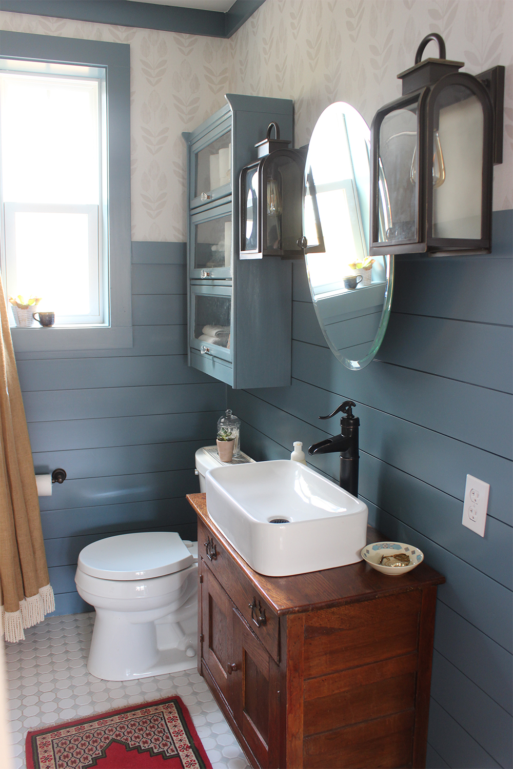 Blue And White Bathrooms Country: Fresh Country Bath Before & After