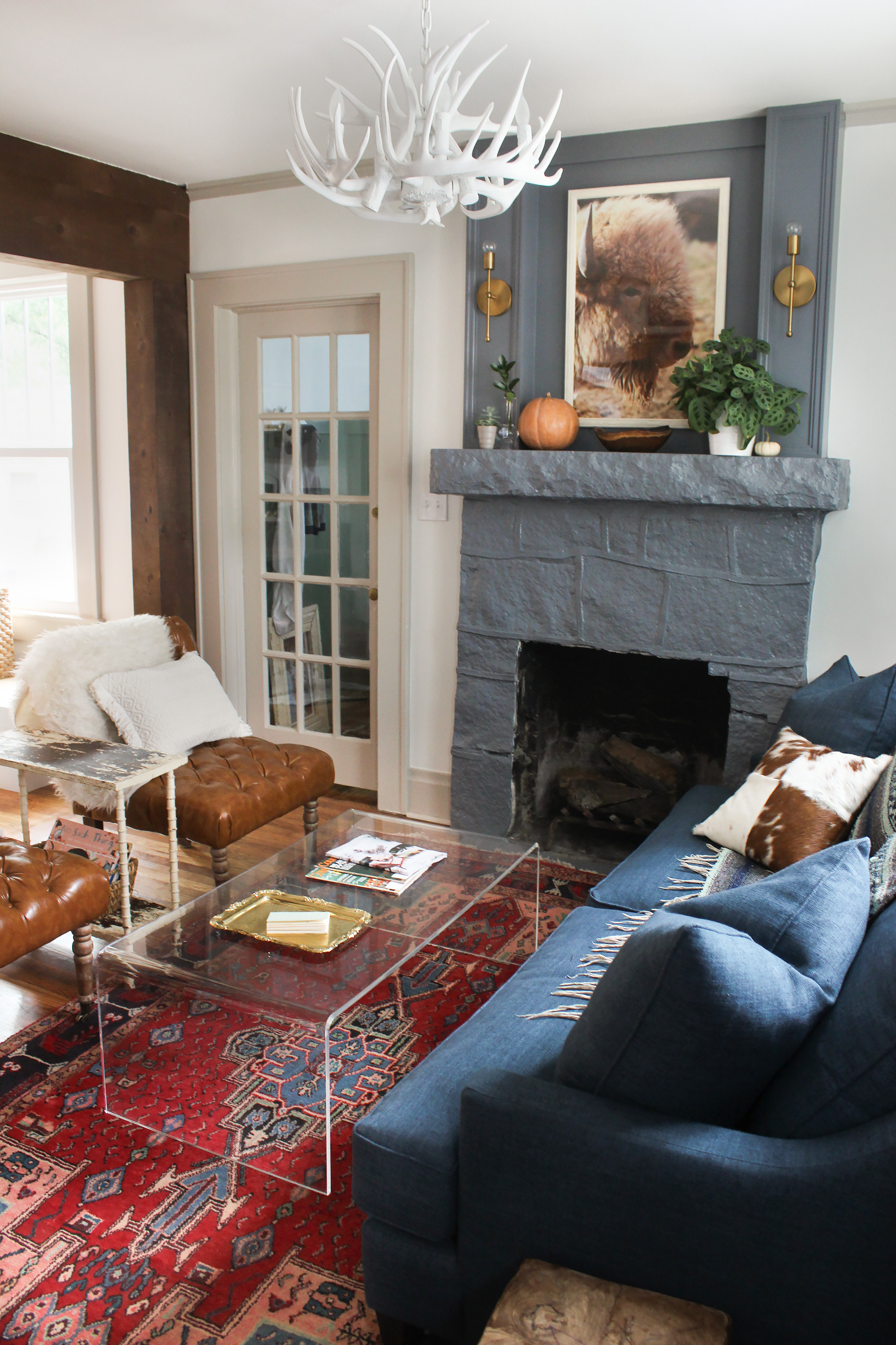 Eclectic Cottage Living Room Reveal thewhitebuffalostylingco