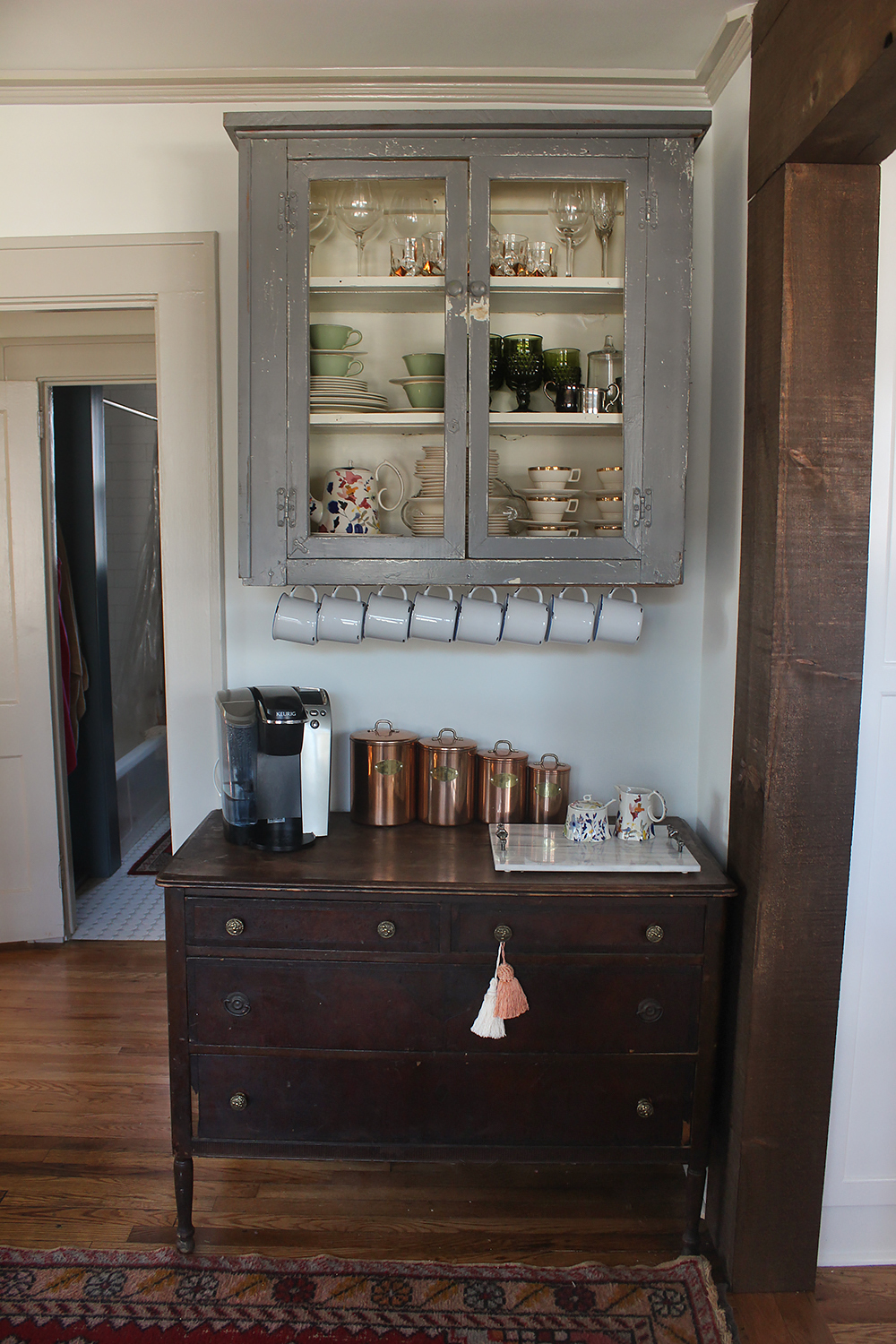 Our Dining Room Coffee Station Thewhitebuffalostylingco Com