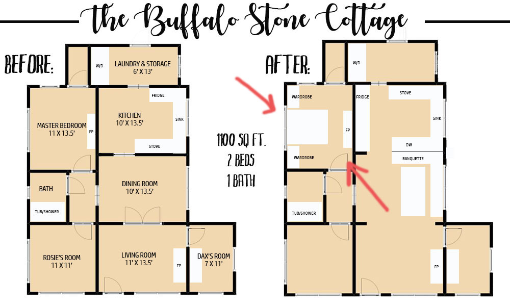 Before And After Floor Plan Thewhitebuffalostylingco Com
